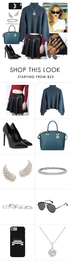 """""""Untitled #822"""" by fatyhnrqz94 ❤ liked on Polyvore featuring Yves Saint Laurent, Anne Klein, Blue Nile, Kendra Scott, Tommy Hilfiger and EWA"""