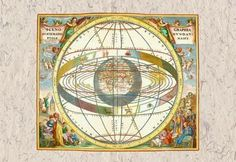 The Ptolemaic View of the Universe 12x18 Giclee on canvas