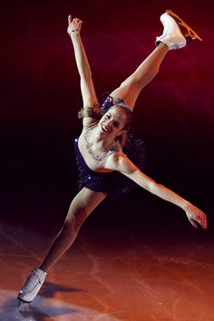 Carolina Kostner - representing Italy in the Olympics.  Such a beautiful skater.