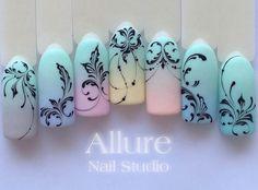 60 Ideas Pedicure Designs Lines Nailart Gel Nail Art Designs, Pedicure Designs, Manicure E Pedicure, Nail Art For Kids, Cool Nail Art, Monogram Nails, Motif Arabesque, Nagel Bling, Hard Gel Nails