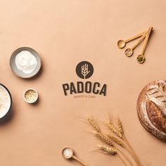 Brand identity and logo design for Padoca Bakery in Istanbul - World Brand Design Baking Logo Design, Food Logo Design, Food Packaging Design, Bakery Design, Logo Food, Brand Identity Design, Brand Design, Bakery Packaging, Menu Design