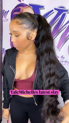 Black Ponytail Hairstyles, Hair Ponytail Styles, Sleek Ponytail, African Braids Hairstyles, Baddie Hairstyles, Crown Hairstyles, Weave Hairstyles, Curly Hair Styles, Hair Addiction