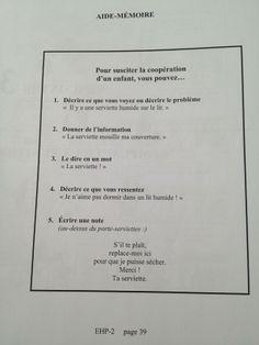 Faber et Mazlish : Susciter la coopération d'un enfant  Enfants - Education Bienveillante Montessori Maternage Astuce Communication Parentalité positive non violente