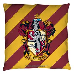 """Harry Potter """"GRYFFINDOR CREST"""" 16x16 or 18x18 Throw Pillow"""