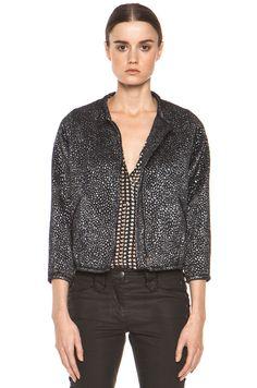 Isabel Marant...Black Label..Ginkle..Wool and Silk Brocade Jacket..F 42 #IsabelMarant #Ginkle