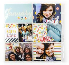 12x12 layout created from the plan your page planner page by Amber Crowell
