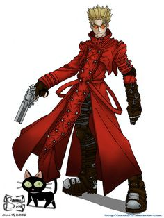 Vash the Stampede: Because being the main character of your own anime means you get all the awesome poses.