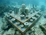 Punta Nizuc, Mexico, MUSA Collection, depth 5m. The Gardener - Underwater Sculpture by Jason deCaires Taylor