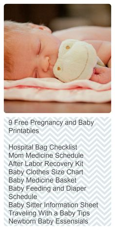 9 Free Pregnancy and Baby Printables Series