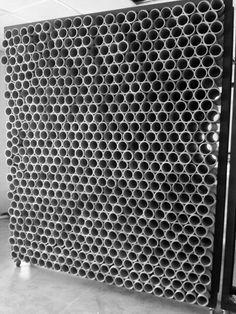 Galería - Reutilización de materiales en Guatemala: muro + mobiliario formado por 1600 tubos de cartón - 15