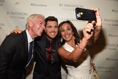 Elvis Duran, Michael Buble & Rosanna Scotto at the By Invitation Fragrance launch in New York 8.24.16 #MichaelBublePerfume www.michaelbubleperfume.com