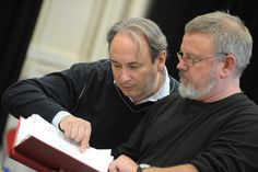 Director Giles Croft and Norman Pace in rehearsal for Charlie Peace: His Amazing Life & Astounding Legend. Credit Robert Day.