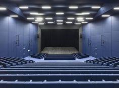 Dietrich I Untertrifaller, Bruno Klomfar · Strasbourg Convention Centre Strasbourg, Contemporary Architecture, Interior Architecture, Concert Hall Architecture, Auditorium Design, Retail Branding, Outdoor Stage, Steel Columns, Innovation Centre