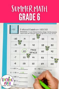 Are your students ready for Summer? Send home this fun Summer Math Packet Project with your kids. Students will engage in math puzzles, printables, and worksheets to keep up their math skills for middle school math. Perfect for grades 6 to 7. Grab your Summer Math Activities today! 6th Grade Math Problems, Sixth Grade Math, Problem Solving Activities, Math Activities, Math Skills, Math Lessons, Letter To Parents, Math Lesson Plans, Math Projects