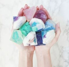 Soap DIY (Two Ways DIY Gemstone soapSoap (disambiguation) Soap is a surfactant cleaning compound used for personal or other cleaning. Soap may also refer to: Crafts To Make And Sell, Crafts For Kids, Easy Crafts, Sell Diy, How To Make Soap, Kids Diy, Diy Cadeau Noel, Diy Stockings, Homemade Soap Recipes