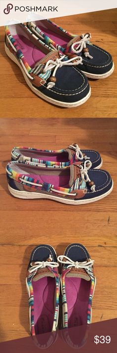 • SPERRY TOPSIDER • rainbow angelfish Sperry Topsider rainbow angelfish shoes. Worn once around the house. Excellent, new condition- as seen in the photos. Size 7. Sperry Top-Sider Shoes Flats & Loafers