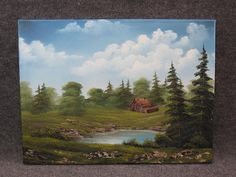 kevin hill painting | By The Pond Painting by Kevin Hill - Small Cabin By The Pond Fine Art ...