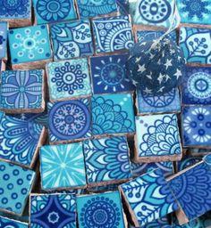 Ceramic Mosaic Tiles Medallions Moroccan Tile Mosaic Pieces | Etsy