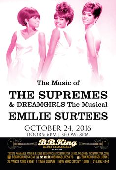 Music of The Supremes & Dreamgirls the Musical feat. Emilie Surtess (10.24.16)