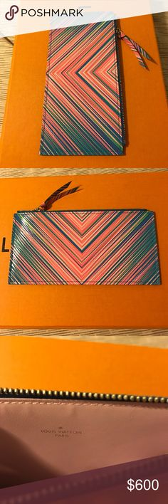 NEW Authentic Louis Vuitton pouch Authentic Louis Vuitton pouch. Insert is the newest Tropical epi leather from the Felicie chain bag. Never used. Price is for the pouch only - It doesn't come with a box or dust pouch. Louis Vuitton Accessories