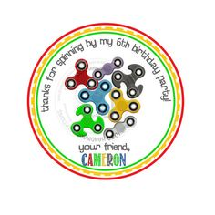 Custom Fidget Spinners Printable 2.5 Tags-Personalized