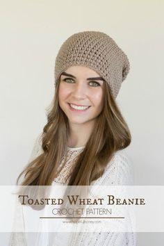 Hopeful Honey | Craft, Crochet, Create: Toasted Wheat Slouchy Beanie - Free Crochet Patter...