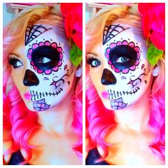Sugar Skull, Day Of The Dead make up by @hairbykaceeb