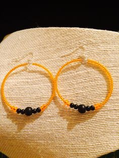A personal favorite from my Etsy shop https://www.etsy.com/listing/230212398/lets-go-giants-hoop-earrings-with