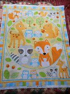 What A Hoot OWL Quilting COT Quilt Patchwork Sewing Fabric Panel ... : nursery quilt fabric - Adamdwight.com