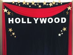 We planned, handcrafted, and set up for a Hollywood Themed School Dance. This is our hand crafted Hollywood photo backdrop for the event. Hollywood Birthday Parties, Hollywood Party, Deco Cinema, Hollywood Theme Classroom, Hollywood Night, Red Carpet Party, Dance Themes, Movie Night Party, Movie Nights
