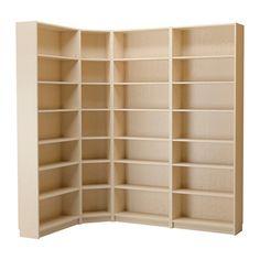 BILLY Bokhylla IKEA Hörnbeslaget BILLY gör din hörnlösning enkel att bygga och håller bokhyllorna på plats.