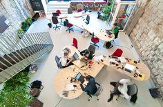 Impact Hub Zürich - spacei in Zürich, Switzerland. Office Workspace, Office Spaces, Co Working, Coworking Space, Zurich, Office Interiors, Explore, Interior Design, World