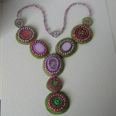 I loved making this! Fantasia freeform bead embroidery necklace by Beadyjan on Etsy, £160.00