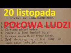 20 listopada połowa ludzi zginie -STARE PROROCTWO i jasnowidz Krzysztof Jackowski BOJĘ SIĘ LISTOPADA - YouTube