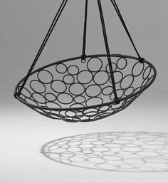 Basket Circle hanging swing chair by Studio Stirling | Garden chairs