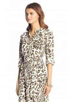 Diane Von Furstenberg - Prita Printed Silk Shirt Dress