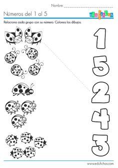 Aprender los números del 1 al 5 http://edufichas.com/actividades/matematicas/numeros/numeros-del-1-al-5-ficha/: