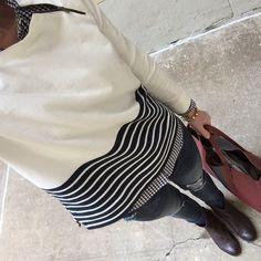 Instagram @headedoutthedoor #ootd for Day 21 of #shopyourcloset2015 || @loftgirl sweatshirt | @jcrew shirt, bag, and bracelet | @vigossusa jeans via @nordstrom | @thefryecompany boots