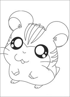 Hamtaro Coloring pages for kids. Printable. Online Coloring. 3
