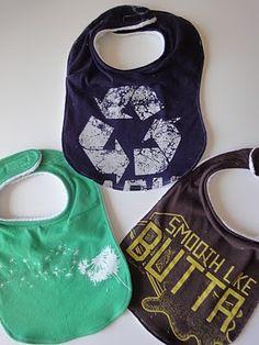 Diy old t-shirt bibs!