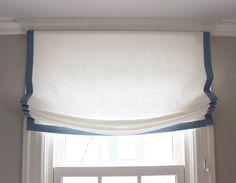 Custom Casual Roman Shade in Kravet Dublin Linen with by LynnChalk - master closet