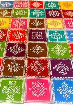 Rangoli Side Designs, Simple Rangoli Designs Images, Free Hand Rangoli Design, Small Rangoli Design, Rangoli Designs Diwali, Rangoli Designs With Dots, Rangoli With Dots, Kolam Dots, Kolam Rangoli
