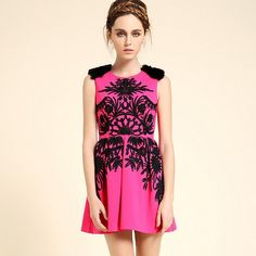 Hand Embroidered Pink Sleeveless Cute Dress