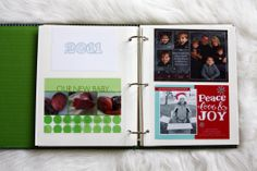 Great idea for if you save photo greeting cards. Organize them in an album by year.