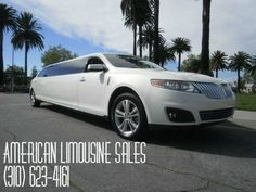 2012 LINCOLN MKS White 120-inch Limousine #1090 - $79995   Visit us at our website: Americanlimousinesales.com