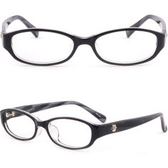 bc50a9b56b Women s Acetate Plastic Frames Flower Side Pieces Prescription Eye Glasses  Black