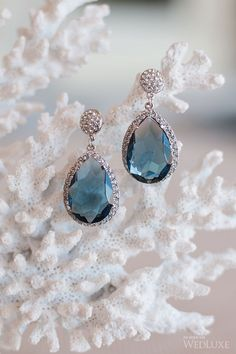 Aquamarine drop earrings. Tara Fava Jewellry. | Photography by: Krista Fox.
