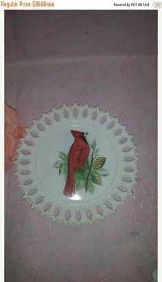 Vintage Kemple Milk Glass Sheaf of Wheat Lace by JunkYardBlonde