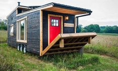 Canadian Tiny House With a Cool Deck - Greenmoxie