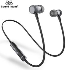 sound intone Picture - More Detailed Picture about Sound Intone Bluetooth Earphone With Mic. HIFI Wireless Earphones Sport Stereo Bass Bluetooth Headset For iPhone For Xiaomi Picture in Earphones & Headphones from Sound Intone Flagships Store Wireless Headphones With Mic, Bass Headphones, Running Headphones, Headphone With Mic, Bluetooth Wireless Earphones, Skullcandy Earbuds, Bluetooth Gadgets, Tablet, Sport